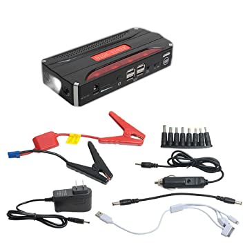 Portable Car Jump Starter >> Qkfly 600a Peak Current Portable Car Jump Starter With 4usb Power Bank Emergency Car Battery Booster Pack Vehicle Jump Starter Charger Sos Flashlight