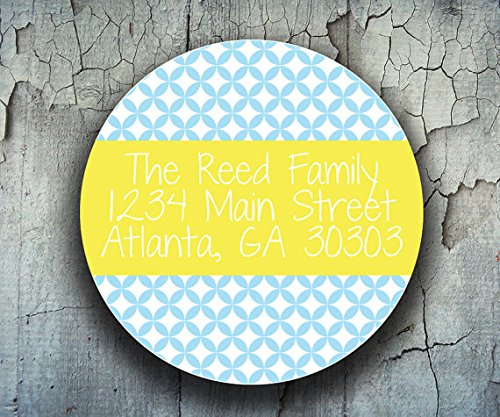 80 Address Labels - Personalized Return Address Stickers - Custom Shipping Labels (Address Seal Return)