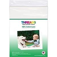 "THREADS TXIT100620 Inkjet Printable Fabric Sheets, 8.5""x11"" 6/Pkg"
