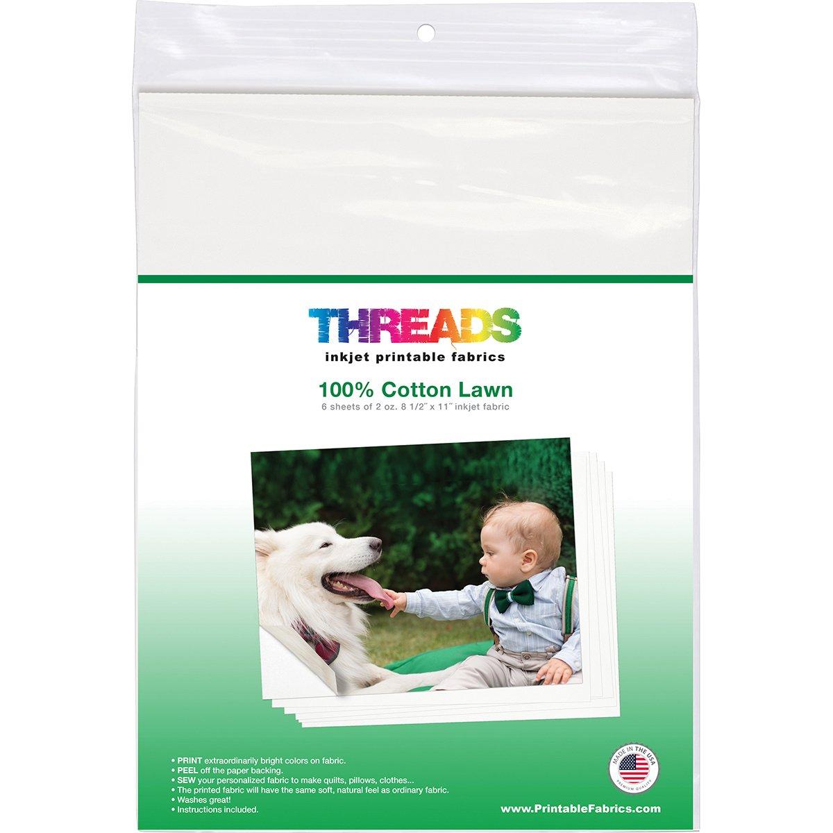 Threads TXIT100620 Inkjet Printable Fabric Sheets 8.5''x11'' 6/Pkg