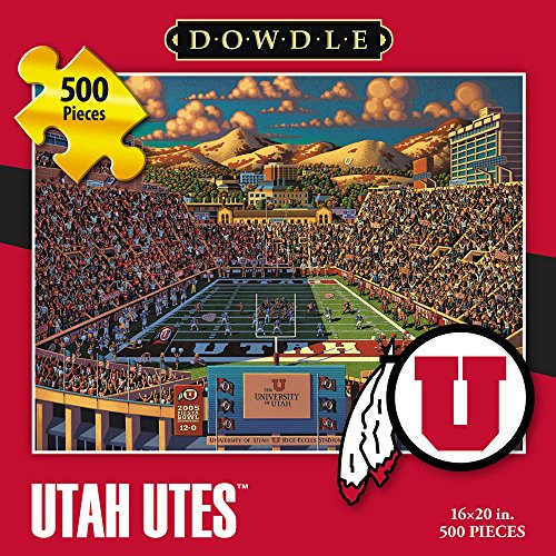 Jigsaw Puzzle - University of Utah Utes-U of U-500 Pc By Dowdle Folk Art