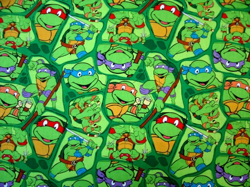 SheetWorld Fitted Pack N Play (Graco) Sheet - Ninja Turtles - Made In USA