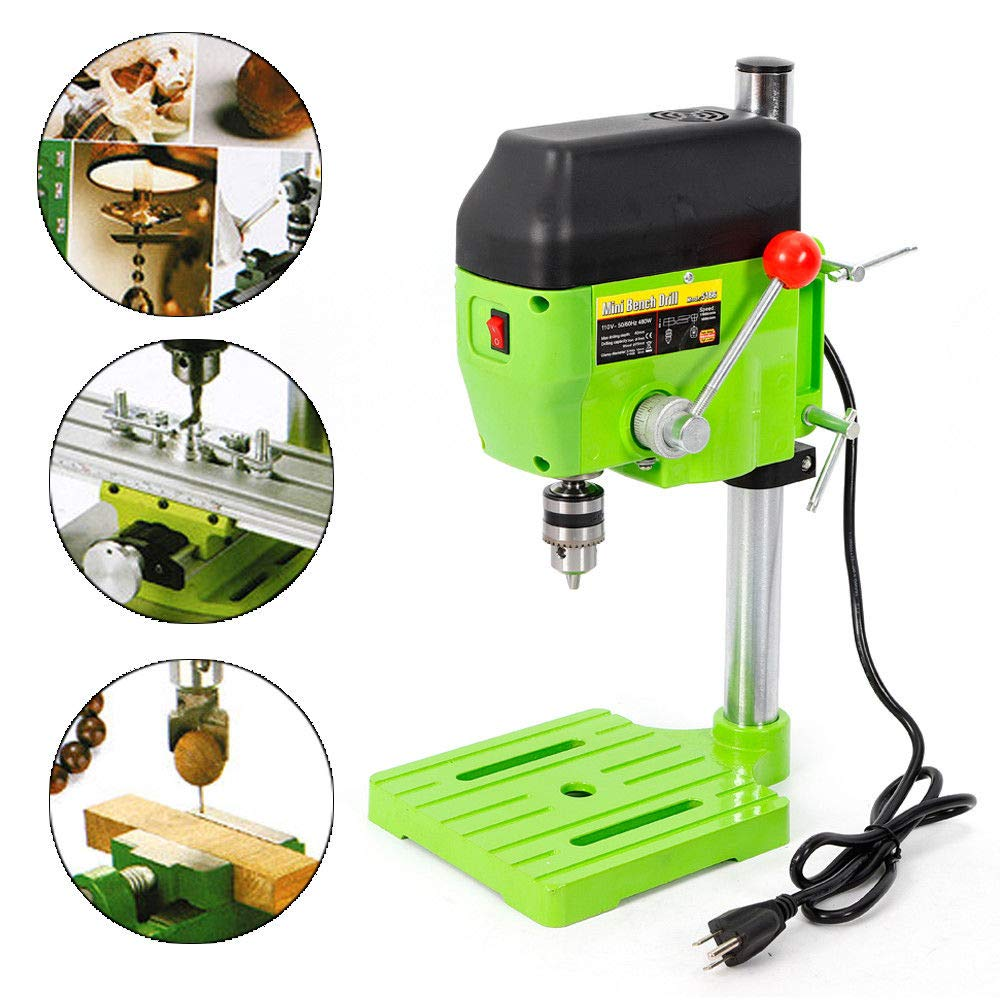 Mini Electric Bench Drill Press Stand Compact Portable Workbench Metal Drilling Repair Tool Expanding Drilling Machine 480W DIY Tool (USA Stock) by SHZICMY (Image #1)