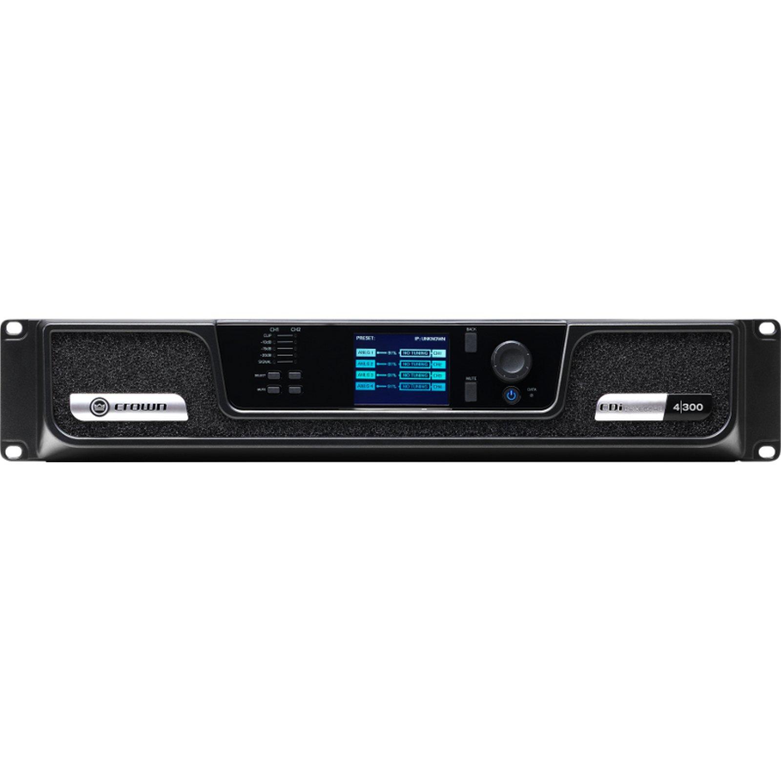 Crown CDi DriveCore 4 300BL | 4 Channel 300 Watt 4 Ohm Power Amplifier