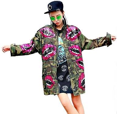 Damen PATCHES Camouflage Denim Jacke Parka m Bomberjacke h Jeansjacke  übergangsjacke lederjacke Blazer Freizeitjacke Basic Vintage Jeans Mantel  (Unisex ... 6bf22239df