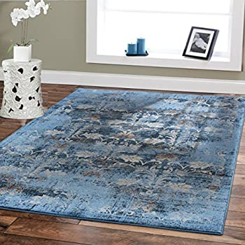This Item Premium Soft 8x11 Modern Rugs For Dining Room Blue Beige Brown Ivory Navy Floral Carpet Fashion 8x10 Bedroom Liviong
