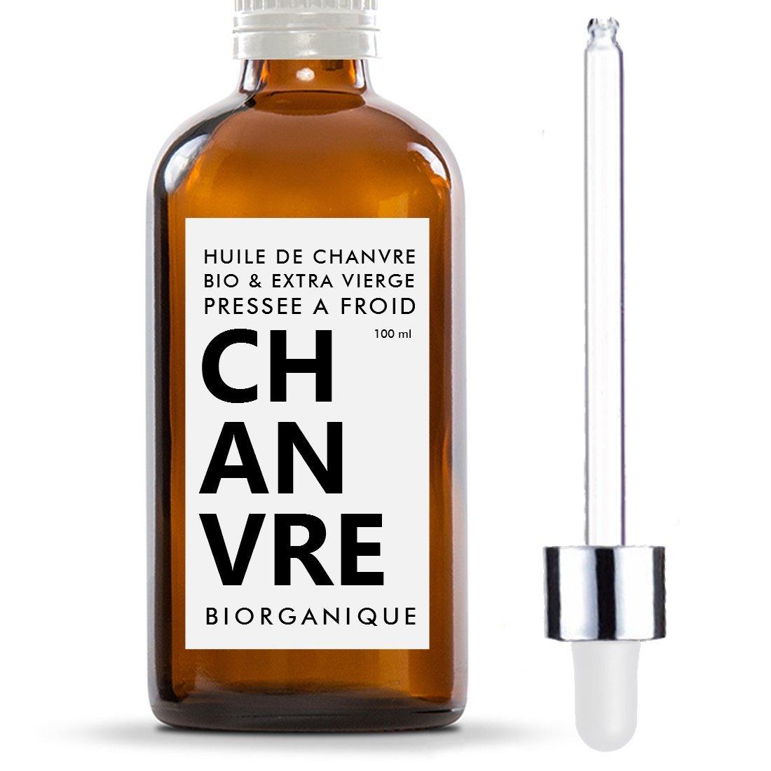 Hanföl 100% Bio, pur und natürlich–100ml–Pflege für Haare, Körper, Haut, Anti-Aging, Gesicht Hanfö l 100% Bio Kö rper Biorganique