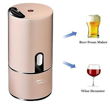 starcompass cerveza espuma eléctrica | dispensador de cerveza portátil barman amigo de decantador de vino y