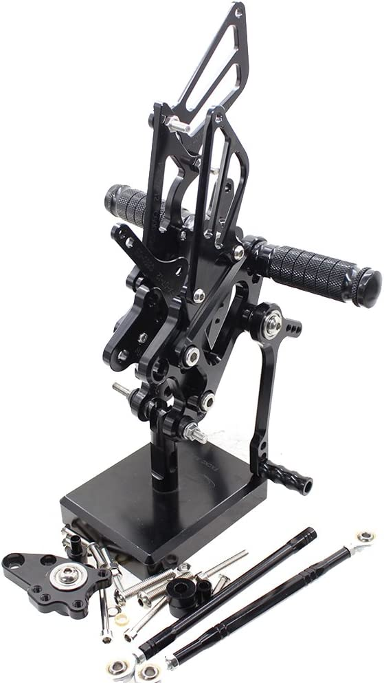 FXCNC Racing CBR 600RR Billet Motorcycle Rearset Foot Pegs Rear Set Footrests Fully Adjustable Foot Boards Fit For CBR600RR 2007 2008