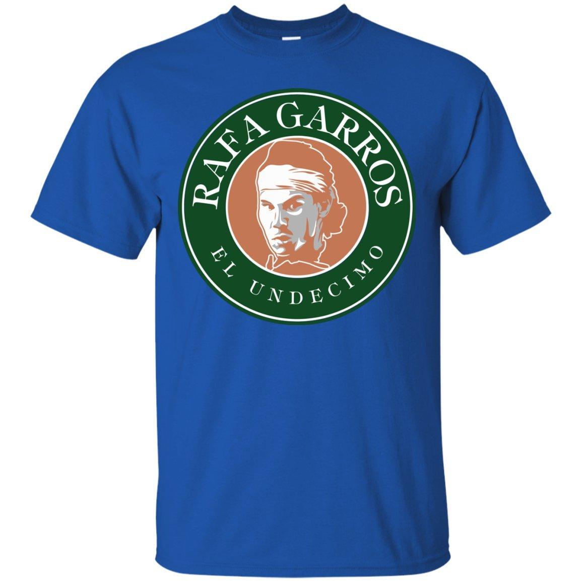 eb6ace18e2 Amazon.com: Rafa Garros Tennis T-Shirt - Rafael Nadal King of Clay ...