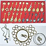 Oliadesign Rulercosplay Fairy Tail Lucy Set of 18 Golden Zodiac Keys Chain