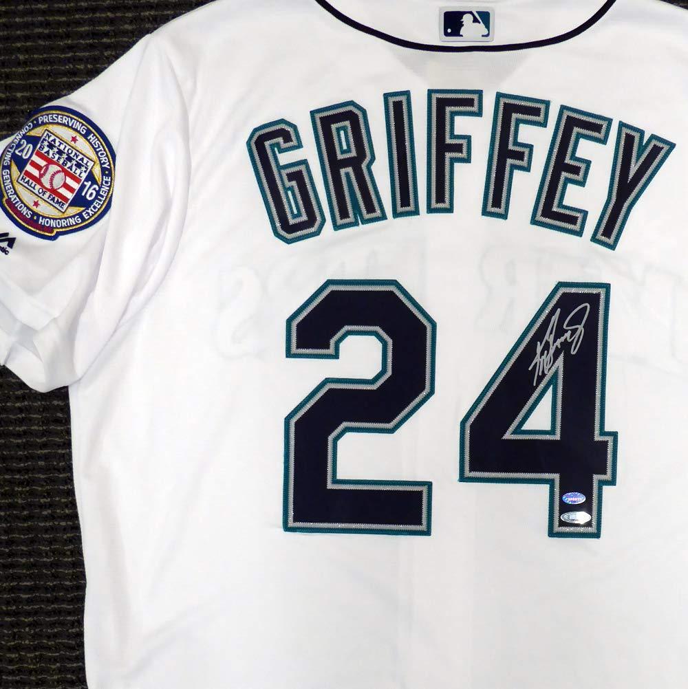 buy popular 39a66 19d7d Seattle Mariners Ken Griffey Jr. Autographed White Majestic ...