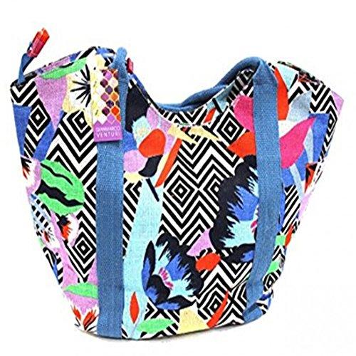 Blu 44532 Borsa Borsa mare piscina moda mare donna GMV mare z8aOaq
