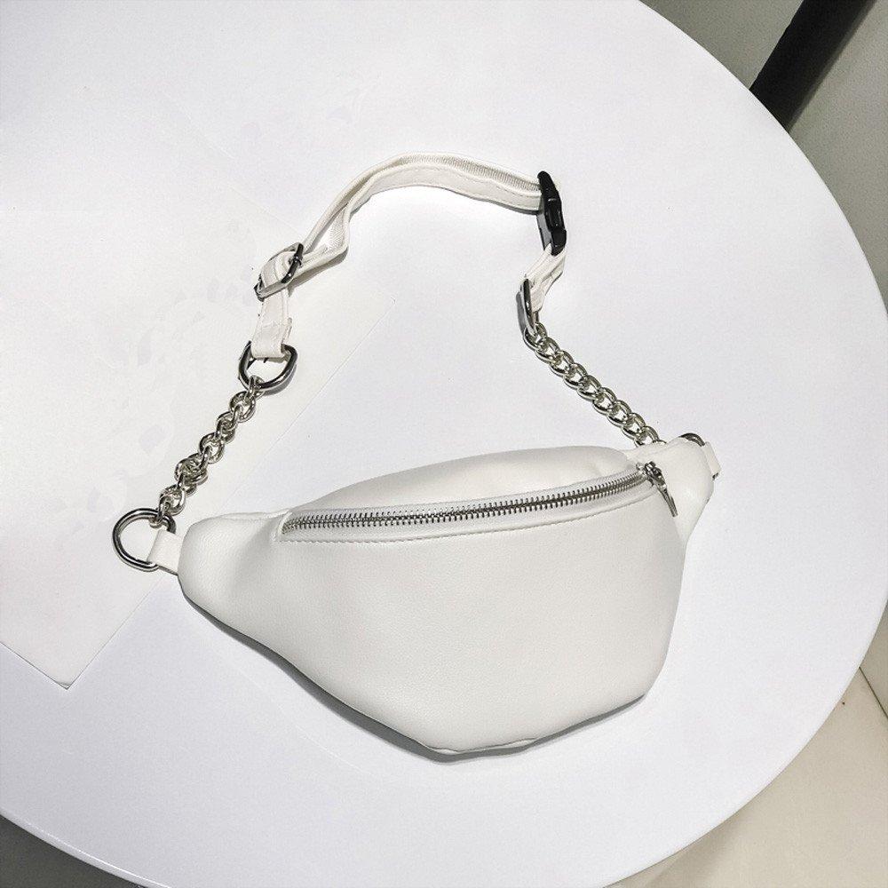 TUSANG Women Fashion Chain Leather Messenger Bag Shoulder Bag Chest Bag Clutch Purse Crossbody Bag For Women Pocket