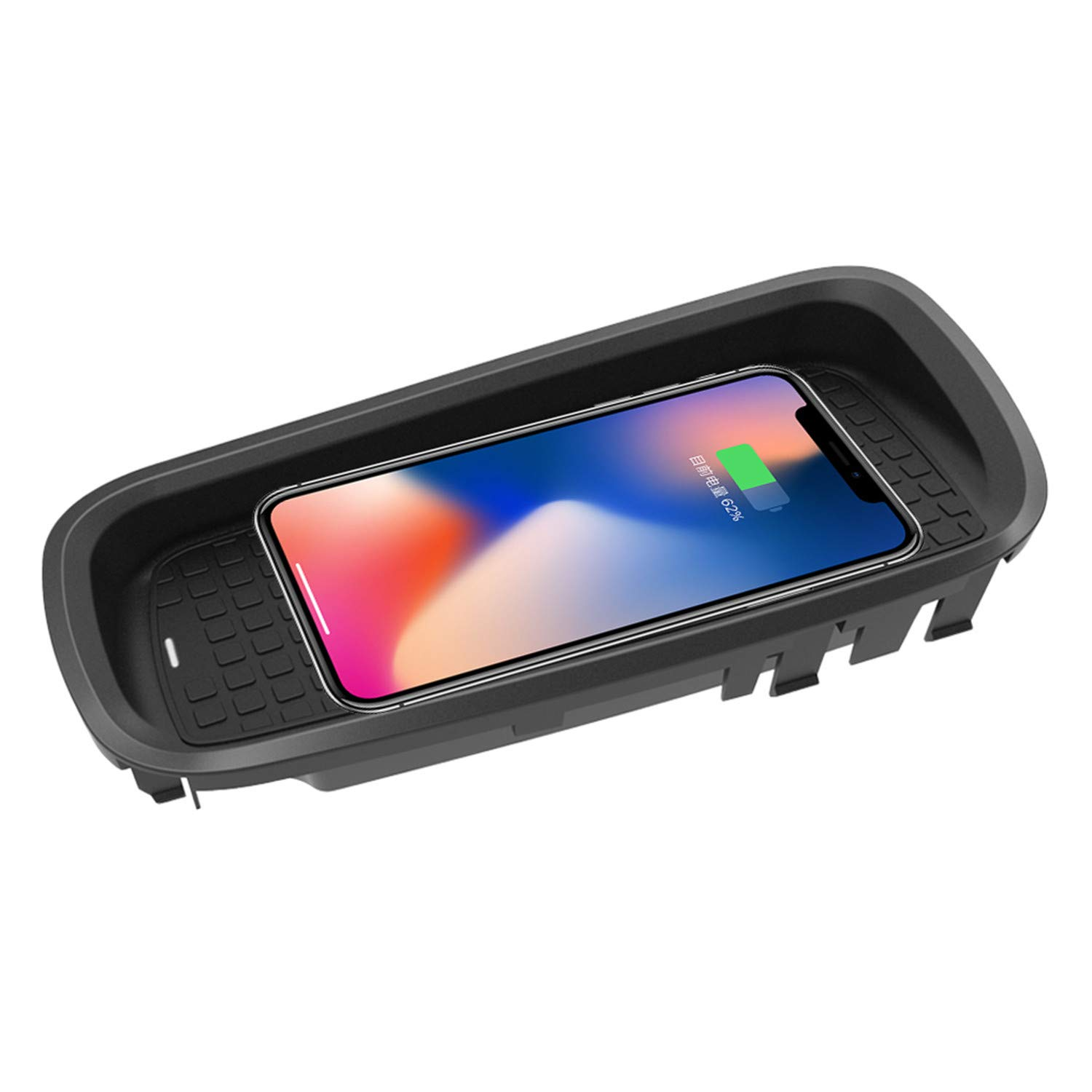 ZWNAV Wireless Car Charger Mount for Lexus CT 2015-2017, Qi Certified, 10W Fast Charging Compatible with iPhone XS/XR/X/8/8+, Samsung S9+ /S9 /S8/S7/Note 8 and Qi Enabled Devices