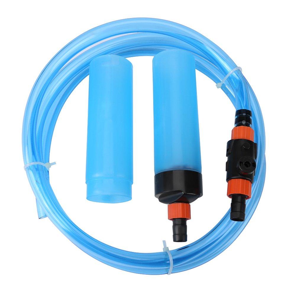 Limpiador de Tanque de Peces Sifón Filtro de Limpiador de Lavado para Acuario Semiautomático de Agua para Acuario de Pecera(L): Amazon.es: Productos para ...