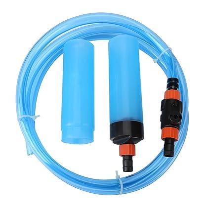 Fish Tank Siphon Semi-Automático Cambiador de agua Acuario Filtro de limpieza de lavado de