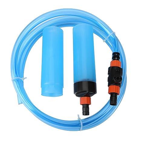 Limpiador de Tanque de Peces Sifón Filtro de Limpiador de Lavado para Acuario Semiautomático de Agua