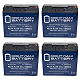 12V 22AH GEL Battery for Drive Medical Cobalt Travel KO821 - 4 Pack - Mighty Max Battery brand product