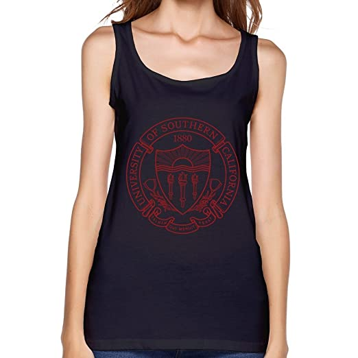985b436a9d6 JRZJ Women s University Of Southern California Usc Logo Tank Top Size S  Black