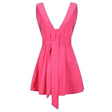 9007005543c4e Woman s Dress Women s A Line Dress - Solid High Waist V Neck Sexy  Sleeveless Shrink Waist
