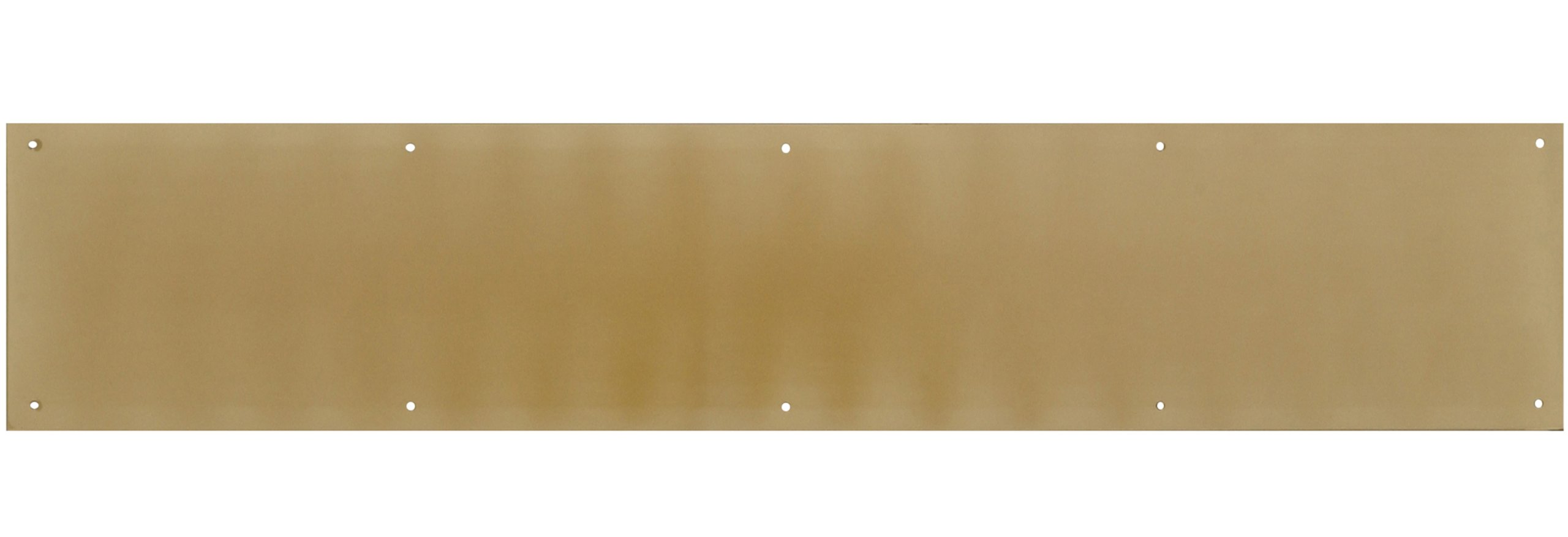 The Hillman Group 852735 6 x 30'' Solid Brass Kick Plate - Bright Brass Finish 1-Pack