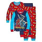 SGI Apparel Lego Ninjago Boy's Glow-In-The-Dark Masters 4-Piece Cotton Pajama Set