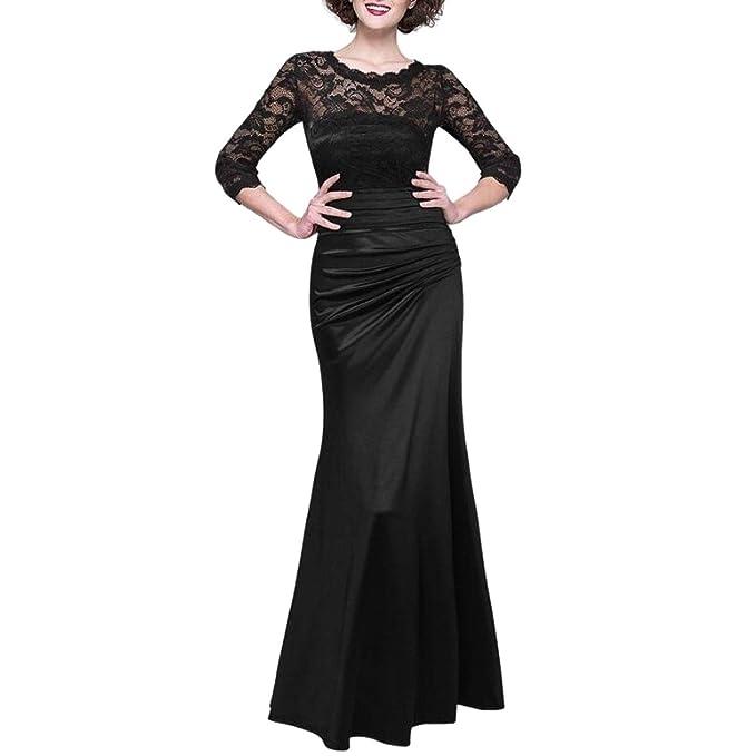095797730e46 JINGLIYA Elegante Sexy Donne Ragazza Vintage Pizzi Mezza Manica Prom  Banchetti Matrimoni Compleanno Vestito Opzionale  Amazon.it  Abbigliamento