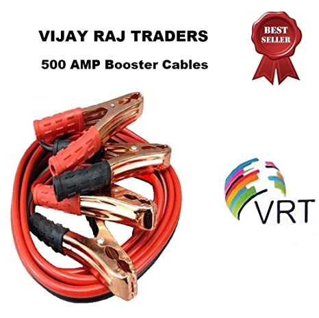 VRT Premium Car Heavy Duty Booster Cables|| Auto Battery Booster 2 21 Meter  || Clamp to Start Dead Battery || Auto Car Jumper Cables (500 Amp) (Red)