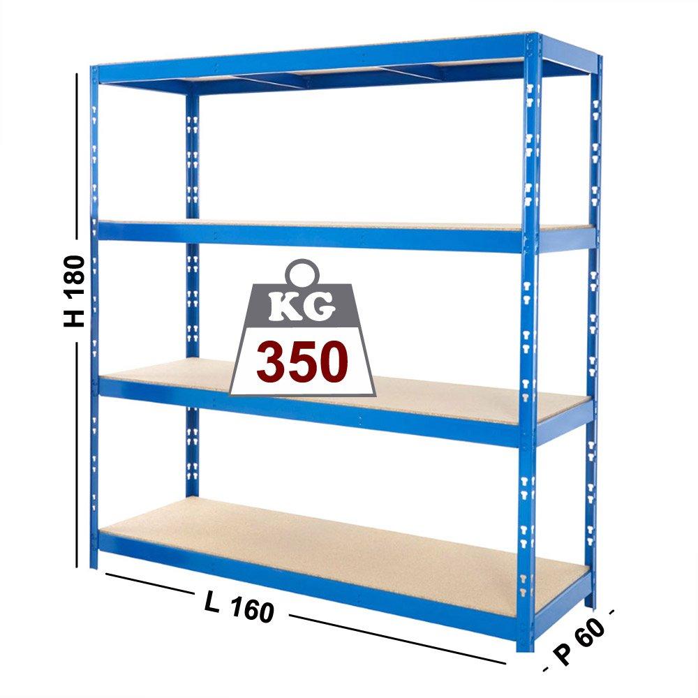 Etagère en Kit à clipser pour garage cm 160x 60x 180h Gaesco Srl