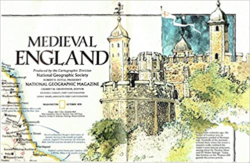 Geographic Map Of England.Medieval England British Isles Map National Geographic Society