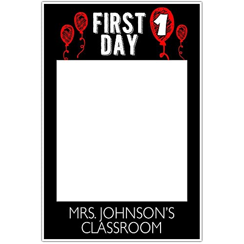Amazon.com: First day of school Red Balloon Classroom Selfie Frame ...