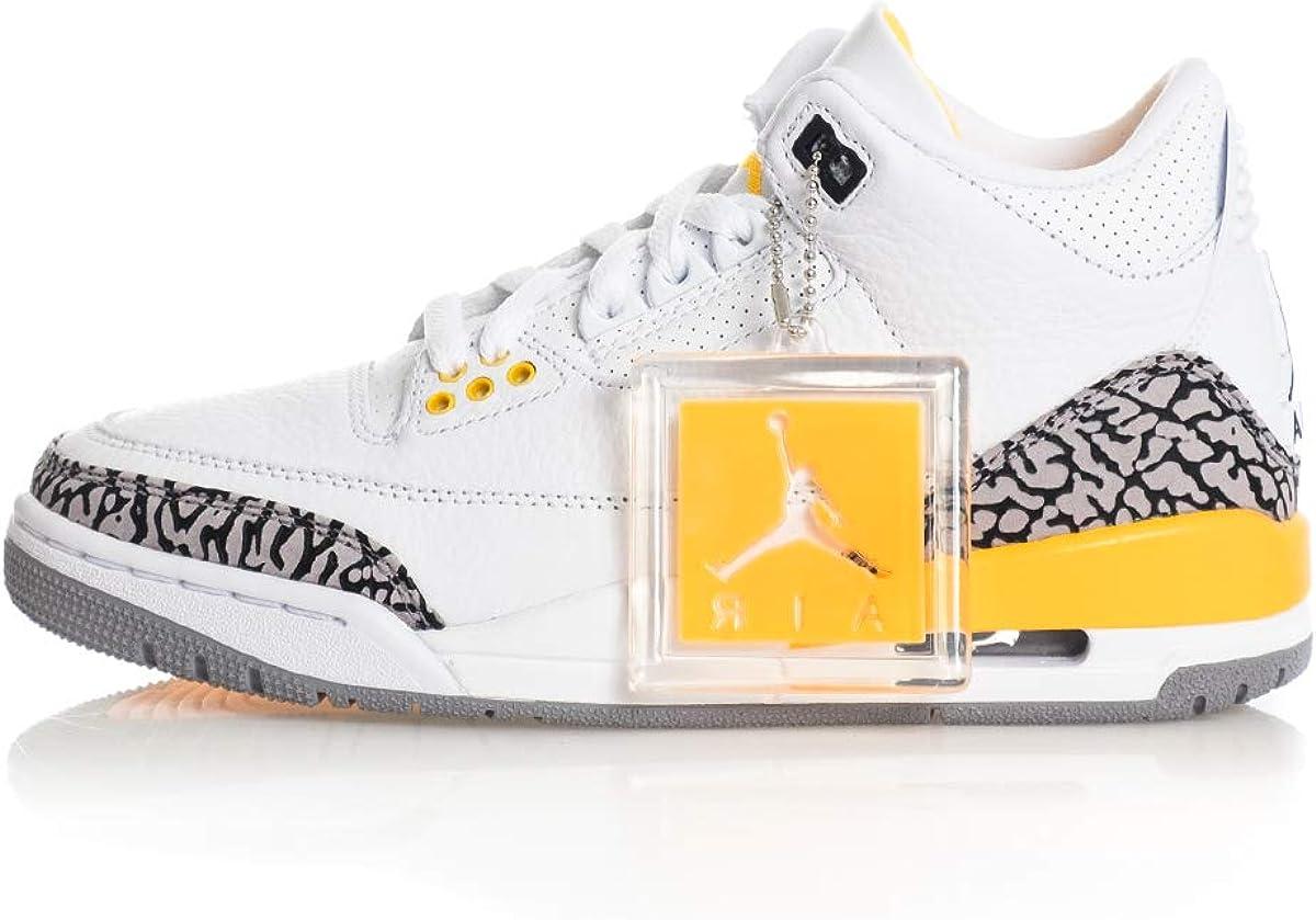 | Jordan Women's Shoes Nike Air 3 Retro Laser Orange CK9246-108 | Basketball