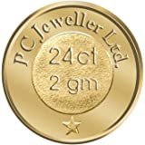 PC Jeweller 2 gm, 24KT (995) Yellow Gold Coin