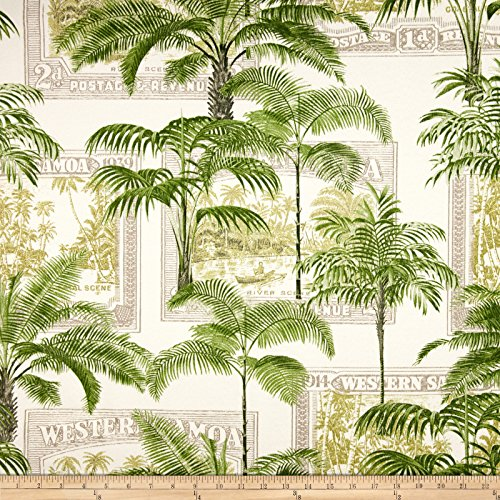 Richloom Fabrics 0345567 Richloom Solarium Outdoor Key Biscayne Palm Fabric by The Yard,