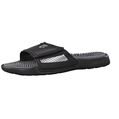 arena Marco VCR Hook Sandals Unisex Black-Grey-Silver Schuhgröße 43 2018 Badeschuhe bY2xD