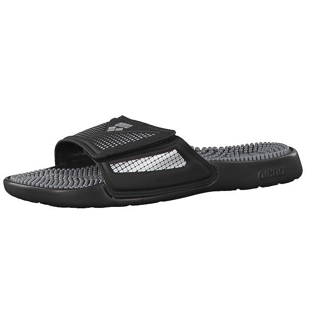 arena Marco VCR Hook Sandals Unisex Black-Grey-Silver Schuhgröße 46 2018 Badeschuhe 4Tg6RMzJ