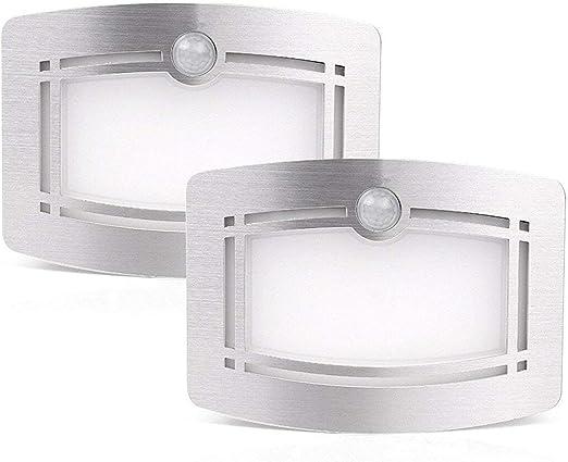 OxyLED Luces del armario del sensor de movimiento,aplique de pared, lámpara de pared de aluminio adherida a cualquier lugar, luz de seguridad interior para escaleras/cocina/baño/lavadero/pasillo: Amazon.es: Iluminación