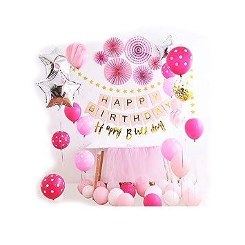 Siyushop Erste Geburtstag Dekorationen Für Mädchen Ballon Alles