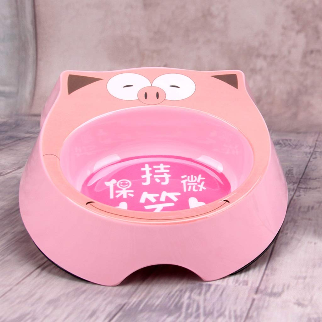 CXQ Puppies Cat Food Bowl Creative Cute Pink Pig Cartoon Cat Bowl Dog Bowl Pet Supplies