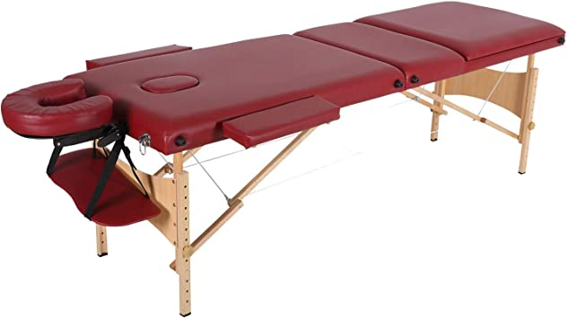 Mesa de Masaje Terapia de 2 secciones Cama plegable portátil de ...