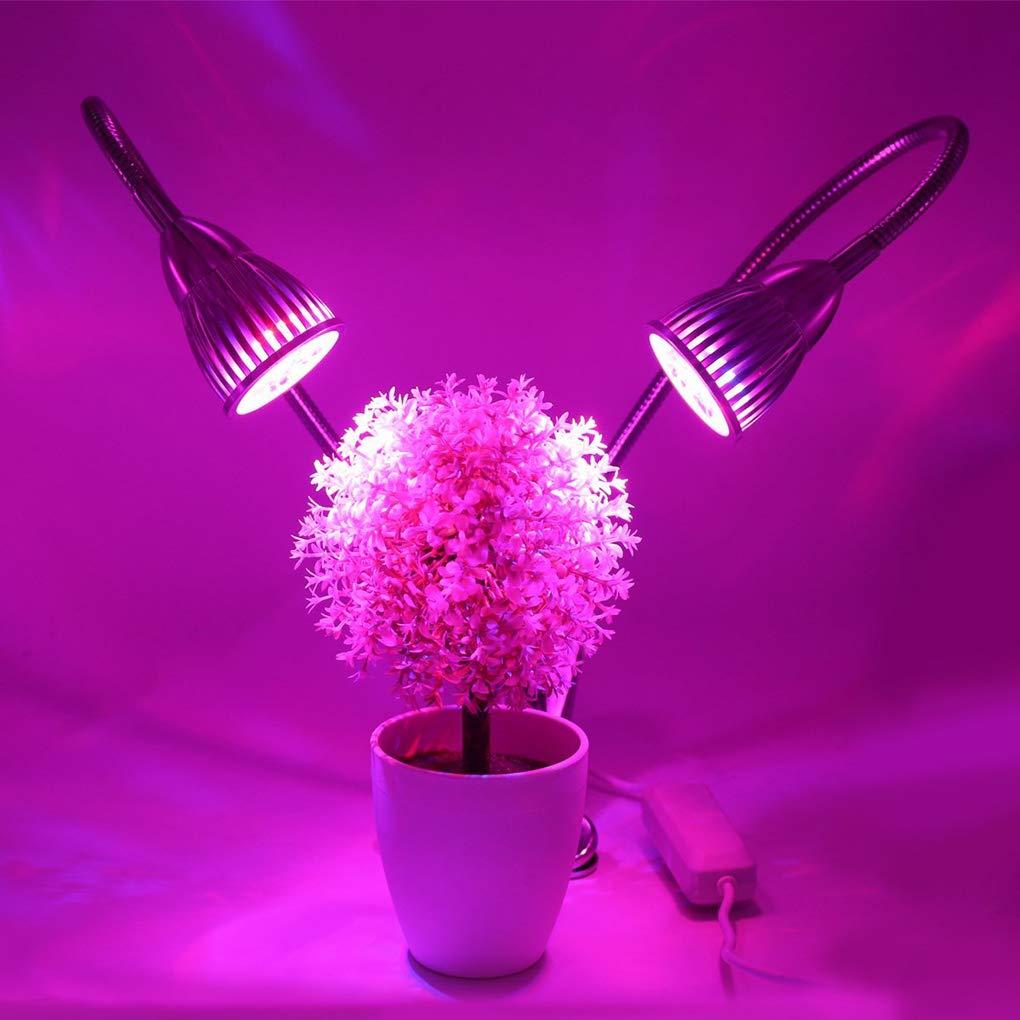 Ligero 360 Doble Planta 10w Crece Led De Grados Cabeza EDYWI2H9