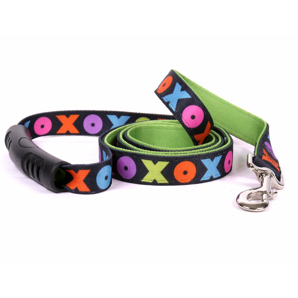 Yellow Dog Design Hugs and Kisses Uptown Dog Leash 3/4'' Wide and 5' (60'') Long, Small/Medium