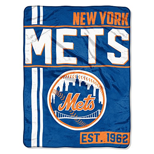 The Northwest Company MLB New York Mets Micro Raschel Throw, One Size, Multicolor by The Northwest Company