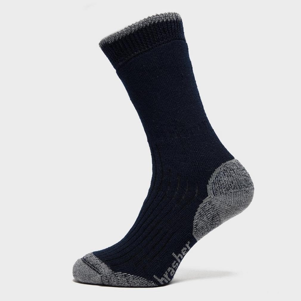 Brasher Black Mens Hiker Crew Socks