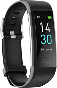 Fitness Tracker HR, Activity Tracker Watch with Heart Rate Blood Pressure Oxygen Monitor and Body Temperature Thermometer, Waterproof Smart Fitness Band Sport Wristbands Bracelet