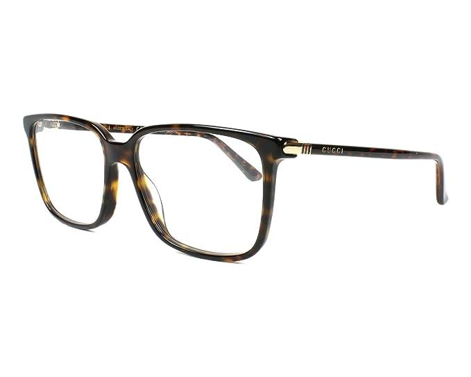 Amazon.com  Gucci GG0019O Rectangular Eyeglasses 56mm  Clothing a30be25c35b