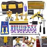 AI 92pcs Car Body Paintless Dent Repair Removal Tools, Auto Dent Puller Kit Automotive Door Ding Dent Silde Hammer Glue Puller Repair Starter Set Kits For Car Hail Damage And Door Dings Repair