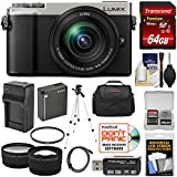 Panasonic Lumix DC-GX9 4K Wi-Fi Digital Camera & 12-60mm Lens (Silver) 64GB Card + Battery & Charger + Case + Tripod + Filter + Tele/Wide Lens Kit