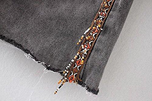 Shorts Casual Bleu Jeans Haute Large en Taille Dchir Oudan Chic Amincissant Femme Ozap1qwW5